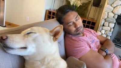 My man Sleepy in a Comy chair