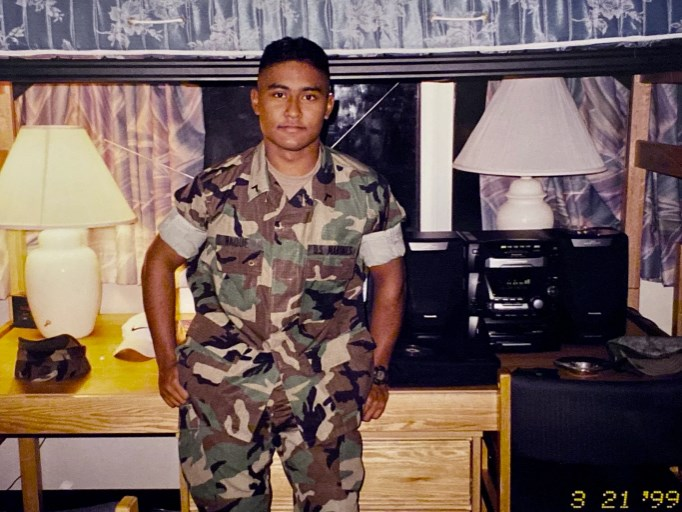 Semper stanfing Wearing his Army Uniform